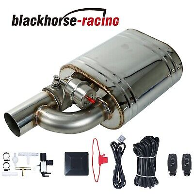 "2.5"" Tip On Single Exhaust Muffler Valve Cutout With Wireless Remote Controller"