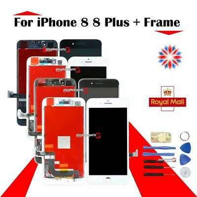 Assembly Dispaly Screen For iPhone 8 8G 8 Plus LCD Touch Digitizer + Frame UK