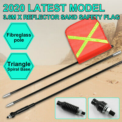 2020 3.6M High Sand Safety Flag 4WD Towing Offroad Touring 4x4 Simpson Desert AU