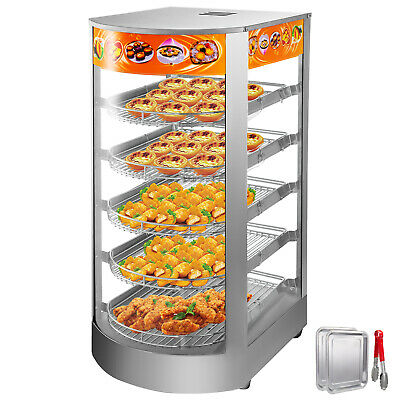 Commercial Food Warmer Pizza Warmer 5-Tier Pastry Warmer with Magnetic Door