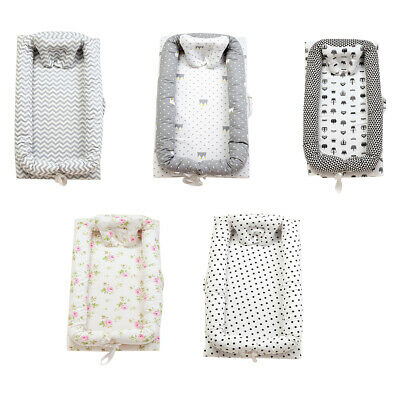 Portable Cotton Baby Bassinet Crib Cocoon Infant Baby Cot Snuggle Bed Soft