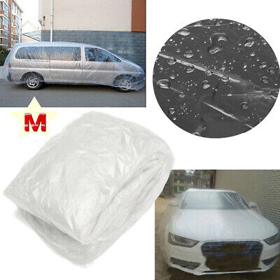 Car Cover Clear Temporary Disposable Waterproof Snow Transparent Universal New