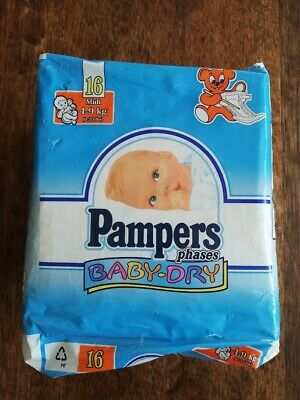 Full package Vintage Pampers Phases Size Midi ABDL Diapers vtg couches