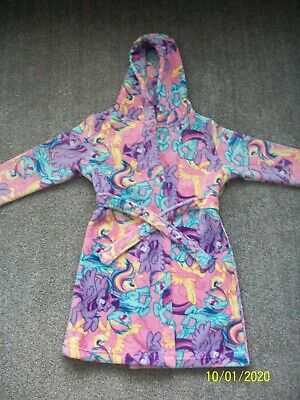 GEORGE Girls My Little Pony Hooded Dressing Gown Age 8 - 9 Years