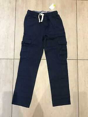 Mini Boden boys blue trousers age 5 years navy soft NEW Cotton