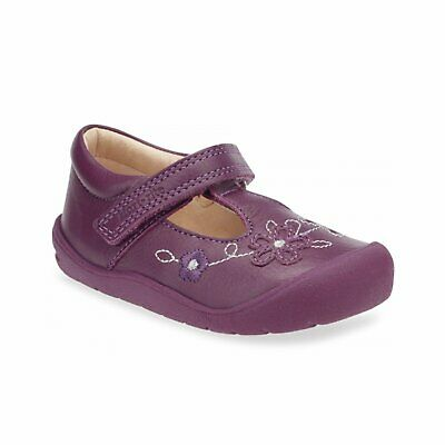 Start-Rite First Mia 0743-8 Girls Berry Leather T-Bar First Shoe