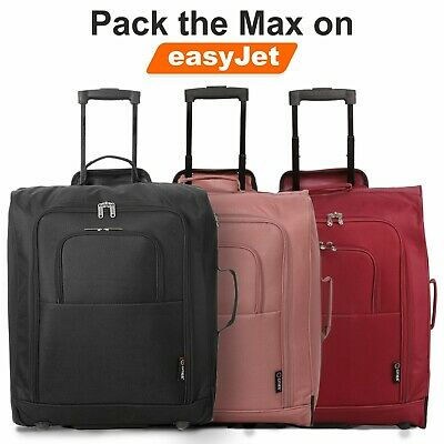 5 Cities EasyJet BA Pack the Max Cabin Approved Trolley Bag Hand Luggage Case