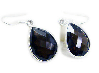 enticing Smoky Quartz 925 Sterling Silver Brown Earring Natural jewellery US