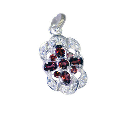 appealing Garnet 925 Sterling Silver Red Pendant genuine indian US gift