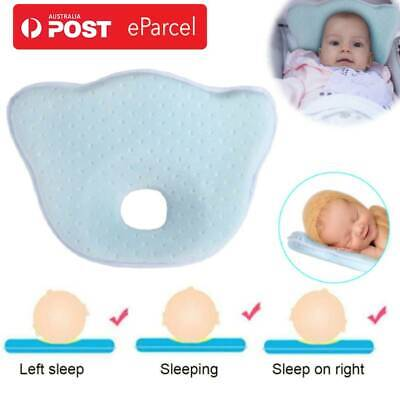Baby Infant Newborn Memory Foam Pillow Prevent Flat Head Neck Syndrome Support