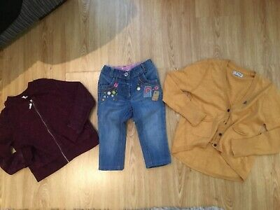 Girls small bundle age 5-6 River island Next, cardigans jeans