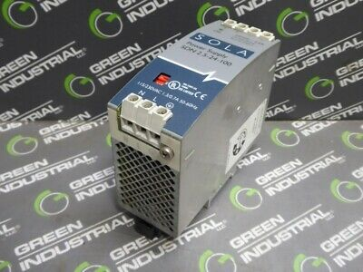 USED SOLA SDN 2.5-24-100 Power Supply Class 2 115/230 VAC 1.3/0.7 A 50/60 Hz