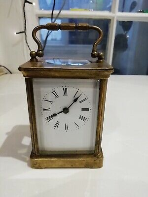 Antique French Richard Et Cie Brass Carriage Clock ( Not Working, No Key)