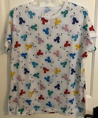 Disney Parks Mickey Balloons Ladies T-shirt XL Extra Large D23 Expo 2019 White