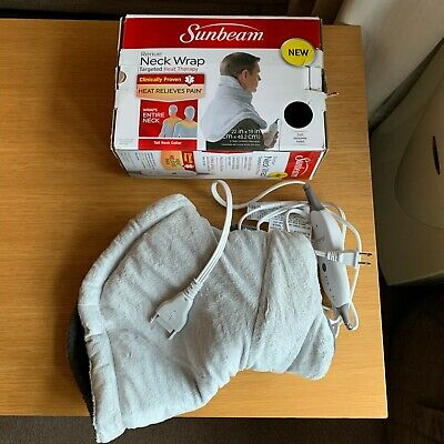 Sunbeam Renue Contouring Neck and Shoulder Heating Pad (with 2 Pin US Plug)