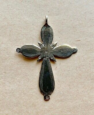 Medieval silver pectoral cross (14th/15th cent.), decorated. Excellent artifact!
