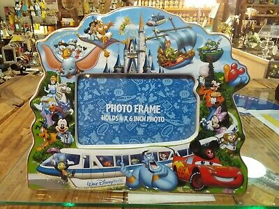 "Disney Parks Mickey & Friends Walt Disney World Storybook Ceramic 4""x6"" Frame"