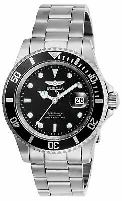 Invicta Men's Pro Diver Quartz Watch with Stainless Steel Strap, Silver