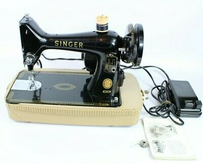 Vintage Electric Singer Sewing Machine 99K Fully Working Order With Case
