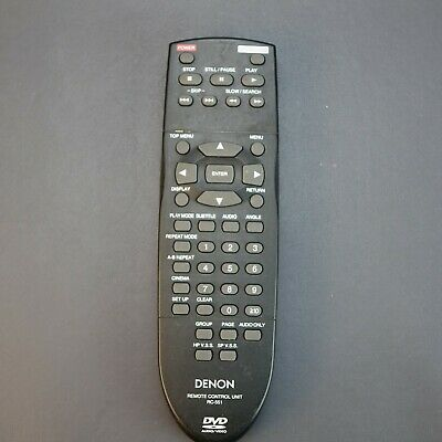 Genuine Denon RC-1218 Remote Control with Blue Glow In The Dark Buttons.