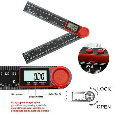"""Electronic LCD Digital Angle Finder 8"""" Protractor Gauge Ruler With Batteries US"""