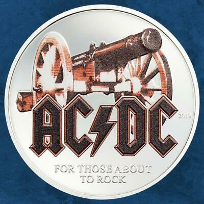 Cook Islands - AC/Dc – for Those about to Rock - 2 $2019 Proof - Silver - Acdc