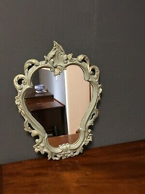 French Antique Duck Egg Blue Mirror