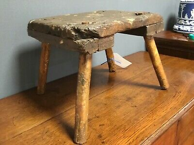 French Rustic Antique Stool