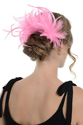 Zac's Alter Ego Large Colourful Feather Fascinator On Comb