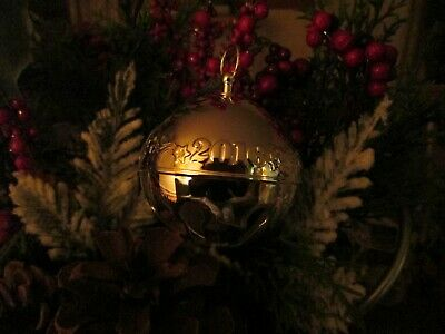 Wallace Annual Silver Plated Sleigh Bell Ornament 2016 (Ornament Only)