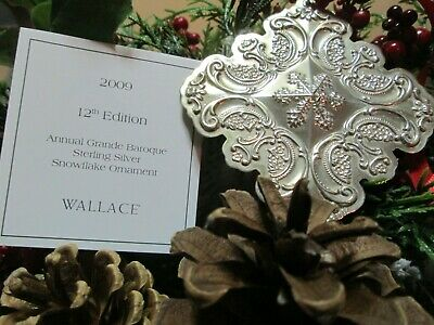 Wallace Annual Sterling Grande Baroque Snowflake Ornament 2009
