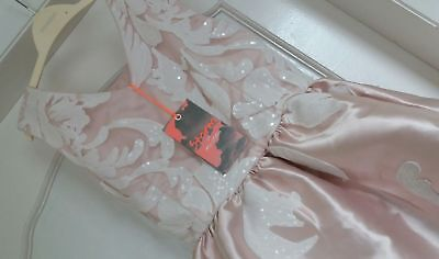 RRP £70 BNWT Girls Monsoon Anna Pink Party / Bridemaid Dress Size 11 Years E