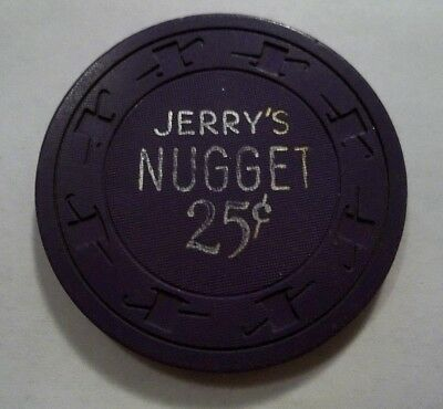Jerrys Nugget Casino North Las Vegas Nv 25 Cent Poker Chip Obs