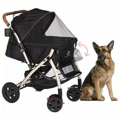 Pet Rover XL Extra-Long Premium Heavy Duty Dog/Cat/Pet Stroller Travel Carriage