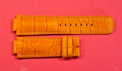 LOUIS VUITTON  TAMBOUR  24/21мм   Sunflower Yellow  Genuine Alligator watch band