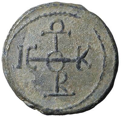 Byzantine LEAD SEALS Ancient Georgios coins Byzanz old Authentic Rare