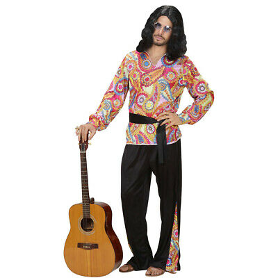 Hippie OUTFIT L 52 Flower Power OUTFIT 70er anni Costume Colorata Hippie Costume