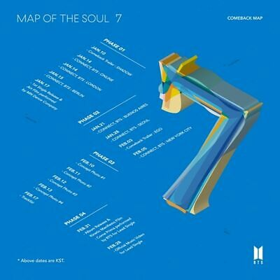 BTS BANGTAN BOYS MAP OF THE SOUL : 7 CD + Photocard + Poster + Tracking Number