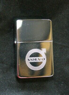Volvo Solid Brass Chrome Lighter - Free Engraving - Ideal Gift, Fathers, BestMan