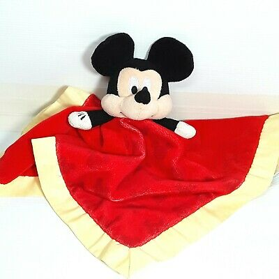 Mickey Mouse Lovey comfort blanket baby plush soft toy doll Red Disney