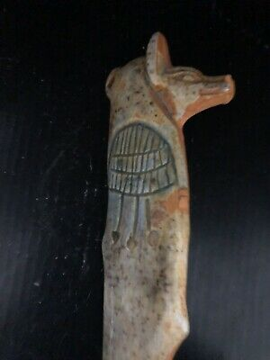 Rare Large Ancient Egyptian Anubis Pendant 26th DYN 680 BC