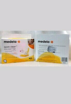 Medela Quick Clean Micro-Steam Bags 5 Pack Lot Of 2  New Sealed Free Ship