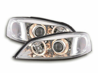 Scheinwerfer Angel Eyes Opel Astra G Bj. 98-03 chrom