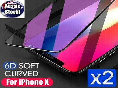2x 6D Full Phone 11 Pro XS Max XR 8 7 Plus Screen Protector Tempered Glass Apple