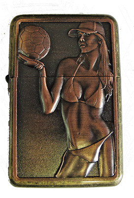 Personalised Engraved Copper VOLLEYBALL Refillable Star Petrol Lighter Gift 21