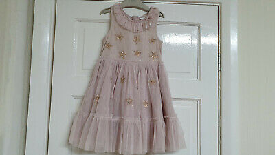 Next Girls Peach Party Sequin Dress 4-5years