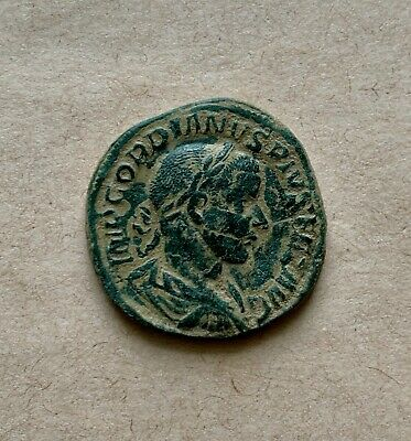 SESTERTIUS AE of Gordian III (AD 238-244), struck AD 240. An excellent coin!