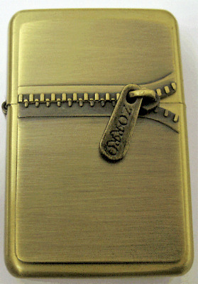 Personalised Engraved Gold ZIP ZIPPER Star Refillable Petrol Lighter Gift him 43