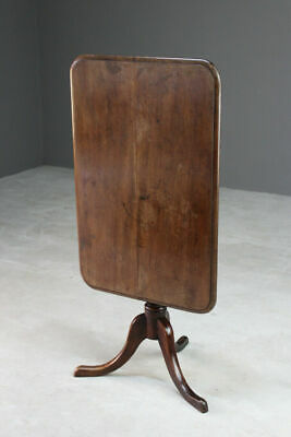 Antique Mahogany Tilt Top Supper Side Occasional Table