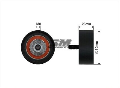 Belt Idler Pulley for VAUXHALL MOVANO 2.2 2.5 00-10 w// aircon CDTI DTI A ADL